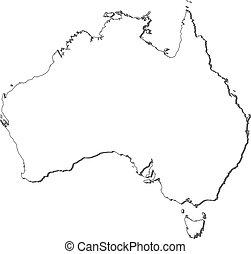 地図, オーストラリア