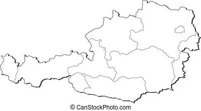 地図, オーストリア