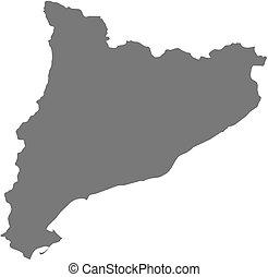地図, カタロニア, -, (spain)
