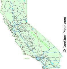 地図, カリフォルニア