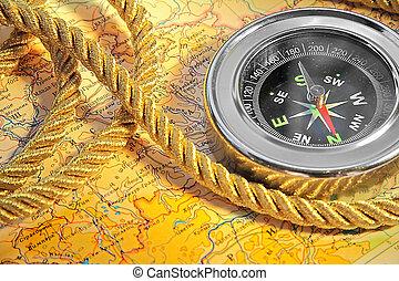 地図, コンパス
