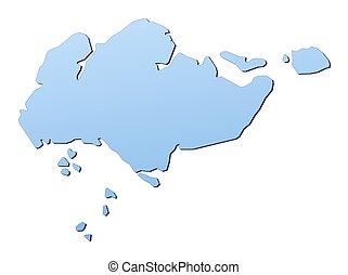 地図, シンガポール