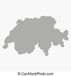 地図, スイス, 背景, 灰色, 白