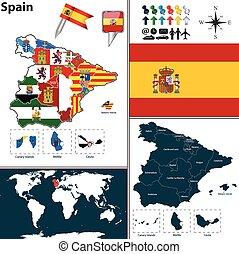 地図, スペイン