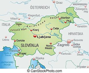 地図, スロベニア