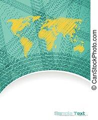 地図, タイヤ, 抽象的, 軌道に沿って進む, デザイン, パンフレット