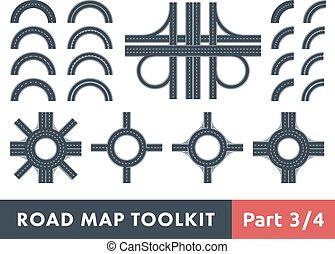 地図, ツールキット, 道