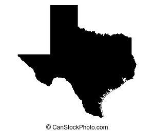 地図, テキサス