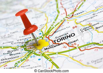 地図, トリノ