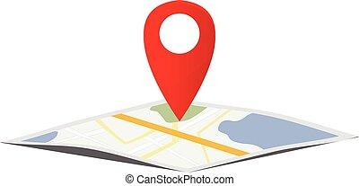 地図, ナビゲーション, ポインター