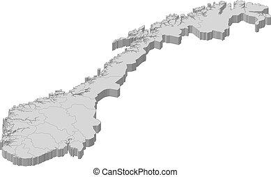 地図, ノルウェー