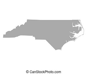 地図, ノースカロライナ