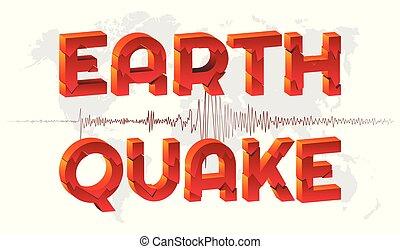 地図, バックグラウンド。, 地震, 世界
