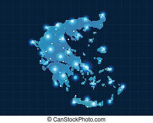 地図, ピクセル, ギリシャ