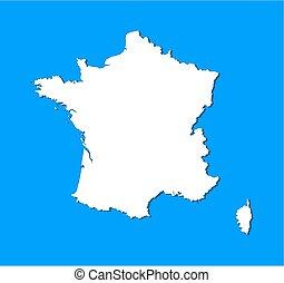 地図, -, フランス