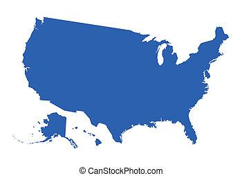 地図, ベクトル, アメリカ