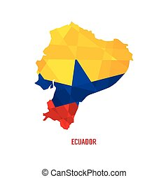 地図, ベクトル, エクアドル, イラスト