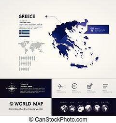 地図, ベクトル, ギリシャ