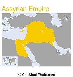 地図, ベクトル, 帝国, assyrian