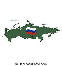 地図, ベクトル, 白, 隔離された, ロシア