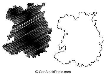地図, ベクトル, shropshire