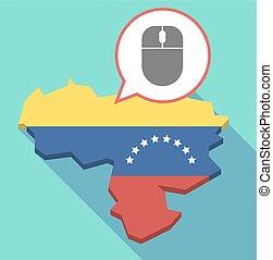 地図, ベネズエラ, 長い間, 無線, 影, マウス