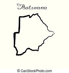 地図, ボツワナ