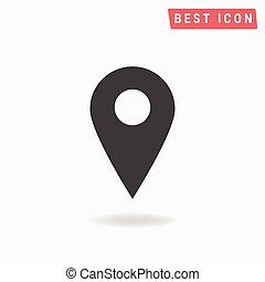 地図, ポインター, アイコン