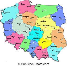 地図, ポーランド
