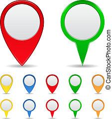 地図, マーカー