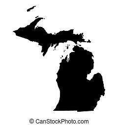 地図, ミシガン州の黒