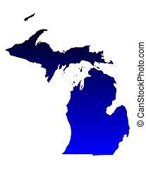 地図, ミシガン州