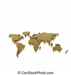 地図, モデル, 地理的, 世界