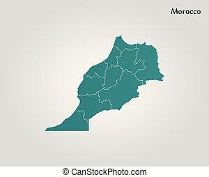 地図, モロッコ