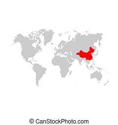 地図, 世界, 陶磁器