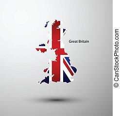 地図, 偉人, 旗, 英国