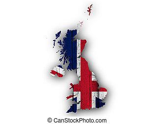 地図, 偉人, 木, 旗, 英国