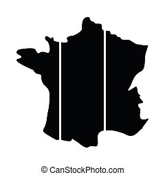 地図, 共和国, フランス語, アイコン