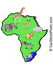 地図, 動物