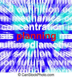 地図, 単語, 作戦, 意味, 計画, 背景, 組織化する