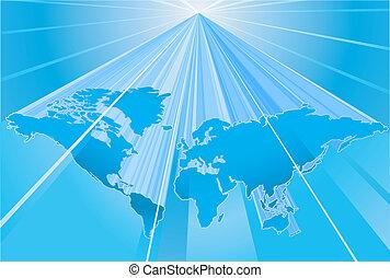 地図, 地球, 単語, 背景, 地球