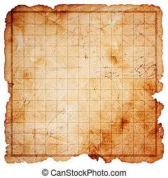 地図, 宝物, 海賊, ブランク
