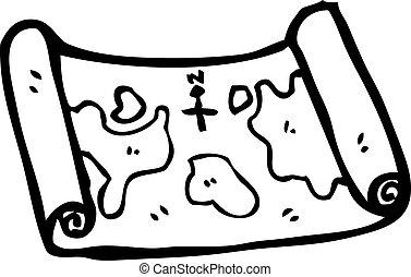 地図, 宝物, 漫画