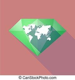 地図, 影, ダイヤモンド, 長い間, 世界