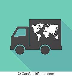 地図, 影, トラック, 長い間, 世界