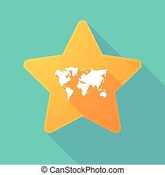 地図, 影, 星, 長い間, 世界