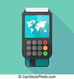 地図, 影, dataphone, 長い間, 世界