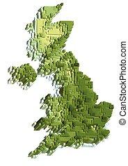 地図, 抽象的, イギリス