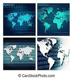 地図, 抽象的, 背景, techno, デザイン, 地球, あなたの