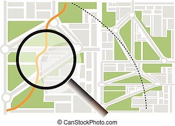 地図, 捜索しなさい